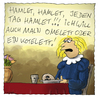 Cartoon: Schon der junge Shakespeare (small) by fussel tagged shakespeare,hamlet,theater,essen,kotelett,omelett,fussel