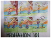 Cartoon: Meditation 101 (small) by Krinisty tagged meditation,beginners,noobs,trees,people,skit,mind,quiet,krinisty,art