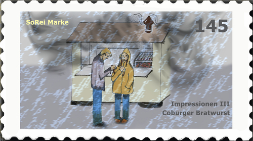 Cartoon: Briefmarke Coburg 3 (medium) by SoRei tagged coburger,bratwurst,impressionen,briefmarken,coburger,bratwurst,impressionen,briefmarken