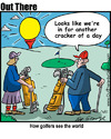 Cartoon: golfers (small) by George tagged golfers