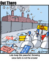 Cartoon: snow balls in hell (small) by George tagged snow,balls,in,hell