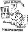 Cartoon: end of religious signals (small) by toonman tagged religion,signals,cross