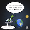 Cartoon: Alien Radio (small) by Timo Essner tagged aliens,alien,ufo,sighting,pentagon,nasa,radio,waves,space,earth,cartoon,timo,essner