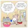 Cartoon: Hobby Rioting (small) by Timo Essner tagged hobby,writing,rioting,household,haushalt,hausfrau,gender,geschlechter,rollenbild,women,society,role,model,gleichberechtigung,equality,mann,frau,man,woman,cartoon,timo,essner