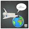 Cartoon: Houston (small) by Timo Essner tagged houston,texas,jahrhundertflut,usa,klimawandel,flutkatastrophe,überschwemmung,nasa,we,have,problem,cartoon,timo,essner