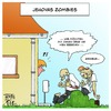 Cartoon: Jehovas Zombies (small) by Timo Essner tagged jehova,zeugen,zombies,religion,hausieren,sekte
