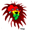 Cartoon: Africa (small) by Carma tagged africa lion war conflicts