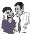 Cartoon: Bonnie and Clyde (small) by Carma tagged cinema,celebrities,movies,bonnie,and,clydebrigitte,bardot,gainsbourg