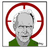 Cartoon: Clint Eastwood (small) by Carma tagged clint eastwood american sniper movies celebrities usa culture