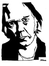 Cartoon: Neil Young (small) by Carma tagged neil,young,music,celebrities,rock