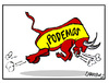 Cartoon: Podemos (small) by Carma tagged spain,international,politic,parties,left,podemos,europe