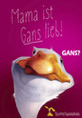 Cartoon: Gans lieb! (small) by Rüsselhase tagged gans,goose,sweet,mama,lieb