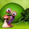 Cartoon: Slug (small) by Rüsselhase tagged slug,fun,sweet,green,digital,deep
