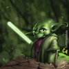 Cartoon: Yoda Fanart (small) by Rüsselhase tagged yoda,starwars,lichtschwert