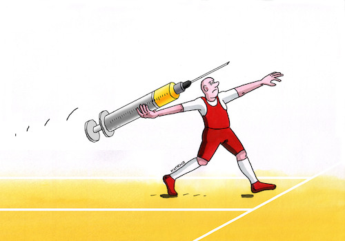 Cartoon: drogostep (medium) by kotrha tagged drugs,sport,people