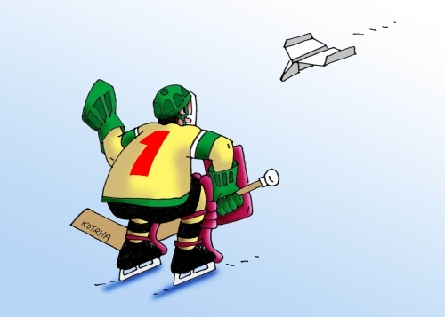 Cartoon: lietadlo (medium) by kotrha tagged ice,hockey