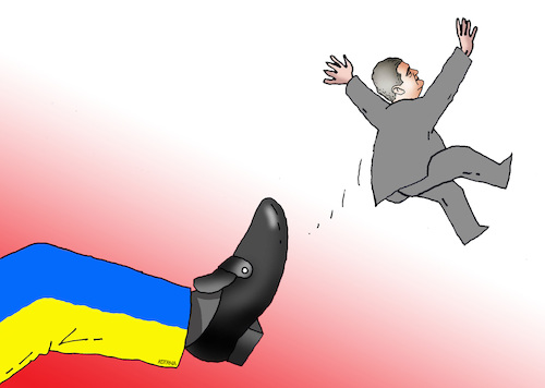 Cartoon: ukroporos (medium) by kotrha tagged ukraine,election,president,poroshenko,zelenskij,europa,russia