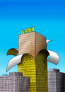 Cartoon: bankdrev (small) by kotrha tagged humor