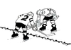 Cartoon: hranice-cb (small) by kotrha tagged hokej,hockey,world,cup