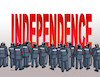 Cartoon: independ (small) by Lubomir Kotrha tagged catalonia,independence,spain,europa,barcelona,madrid