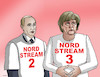 Cartoon: nordstream3 (small) by kotrha tagged meeting,angela,merkel,vladimir,putin,germany,russia,north,stream,gas,euro,ruble,dollar