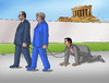 Cartoon: tsimerholl2 (small) by kotrha tagged greece,eu,referendum,syriza,tsipras,ecb,reforms,money,debt,euro