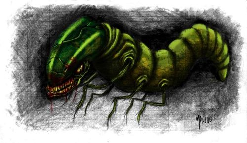 Cartoon: larvae (medium) by maucho tagged larvae,monster,digital,paint,animal,sketches,alien,draw,cartoon
