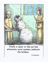 Cartoon: Frosty and the slam (small) by armadillo tagged frosty,jail,carrot,bad