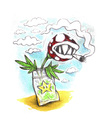 Cartoon: Mario plant (small) by Trippy Toons tagged super,mario,trippy,marihu,weed,cannabis,stoner,kiffer,ganja,video,game