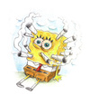 Cartoon: Sponge full of smoke (small) by Trippy Toons tagged spongebob,sponge,bob,squarepants,schwammkopf,eyes,augen,bloodshot,cannabis,marihuana,marijuana,stoner,stoned,kiffer,kiffen,weed,ganja,smoke,smoking,rauch,rauchen