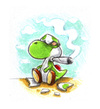 Cartoon: Yoshi (small) by Trippy Toons tagged super,mario,yoshi,trippy,marihu,weed,cannabis,stoner,kiffer,ganja,video,game