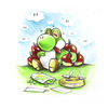 Cartoon: Yoshi 2 (small) by Trippy Toons tagged super,mario,yoshi,trippy,marihu,weed,cannabis,stoner,kiffer,ganja,video,game