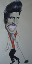 Cartoon: Elvis Presley (small) by SAPIENS tagged cartoon,drawing,colour