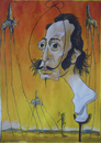 Cartoon: Salvador Dali (small) by SAPIENS tagged cartoon,drawing,colour
