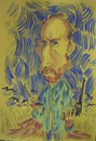 Cartoon: Vincent Van Gogh (small) by SAPIENS tagged cartoon,drawing,colour
