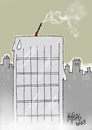 Cartoon: candle (small) by kotbas tagged candle,building,genetic