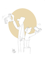 Cartoon: selfie (small) by kotbas tagged selfie,generation,new,book