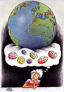 Cartoon: youth worlds (small) by kotbas tagged young,dream,world