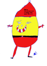 Cartoon: Merry xmas patato -weinachtsmann (small) by istanbuler62 tagged merry xmas and happy new year 2011 istanbuler62