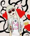Cartoon: Sykes girlfriend (small) by naths tagged blond,tattoo,girl,oliver,sykes