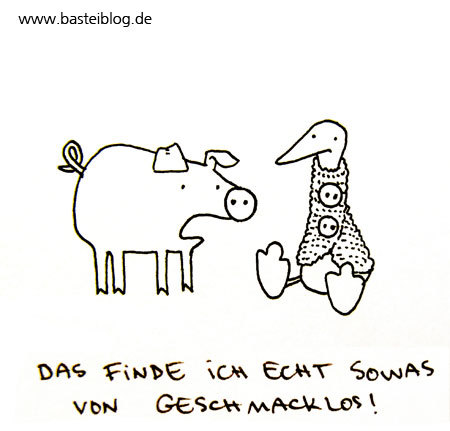 Cartoon: Knöpfe. (medium) by puvo tagged knopf,button,schwein,rüssel,gans,ente,nose,pig,goose,duck
