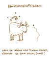 Cartoon: Rausschmeißfliegen. (small) by puvo tagged fliege,kuh,fly,cow,bulle,ochse,schmeißfliege
