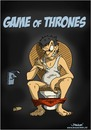 Cartoon: Game of Thrones (small) by Spanossi tagged gameofthrones,juegodetronos,toilette,klopapier