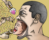 Cartoon: Screaming heads gluttony (small) by javierhammad tagged surreal,heads,scream,ice,cream,food,sweet