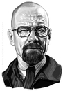 Cartoon: Bryan Cranston - WALTER WHITE (small) by Iancu tagged bryan,cranston,walter,white