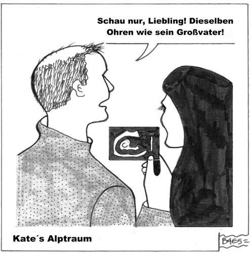 Cartoon: Kates Alptraum (medium) by BAES tagged kate,middleton,schwanger,prince,william,charles,kate,middleton,schwanger,prince,william,charles