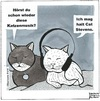 Cartoon: Katzenmusik (small) by BAES tagged cat,stevens,katzen,musik