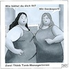 Cartoon: Zwei Think-Thank Managerinnen (small) by BAES tagged think,thank,manager,frauen,dick,sport,business