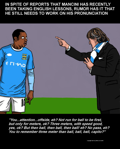 Cartoon: Mancini City (medium) by perugino tagged uk,football