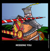 Cartoon: Missing you (small) by perugino tagged missing,you,love,greeting,cards